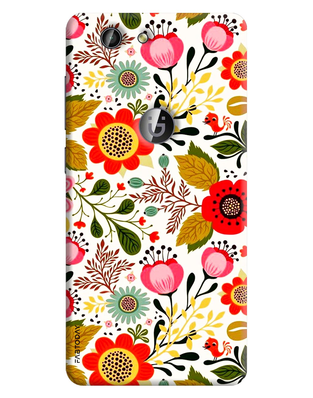 Flowers Back Cover for Gionee F103 Pro
