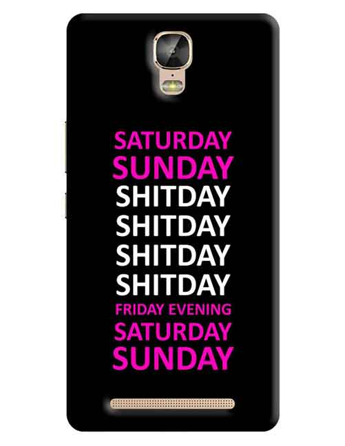 Shitday Gionee M5 Plus Mobile Cover