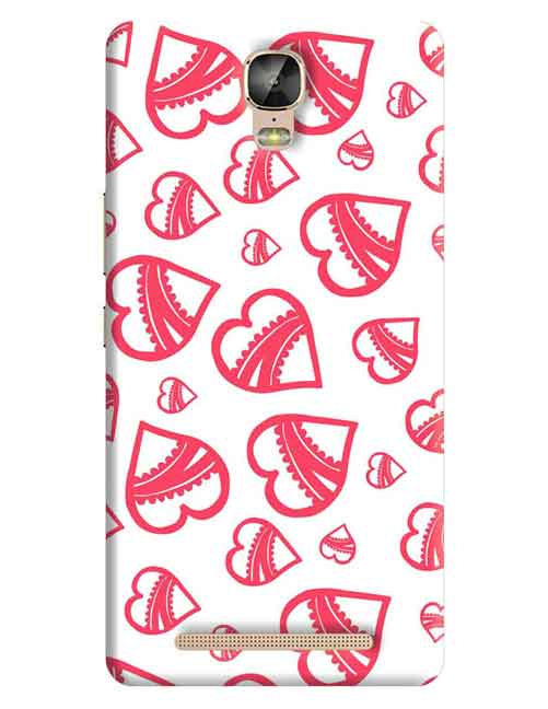 Hearts Gionee M5 Plus Mobile Cover