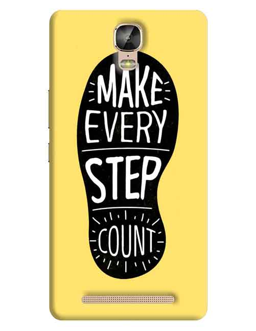 Make Every Step Count Gionee M5 Plus Mobile Cover