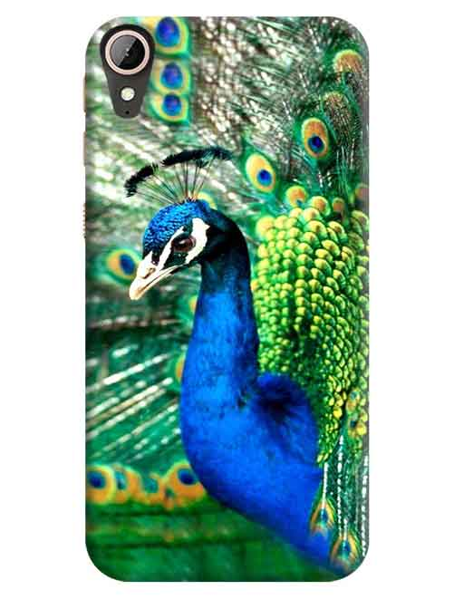 Dancing Peacock HTC Desire 830 Mobile Cover