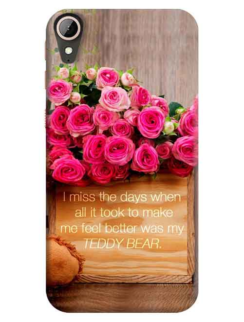 Pink Roses HTC Desire 830 Mobile Cover