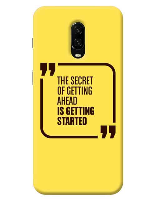 The Secret of Getting Ahead is getting Started OnePlus 7 Mobile Cover