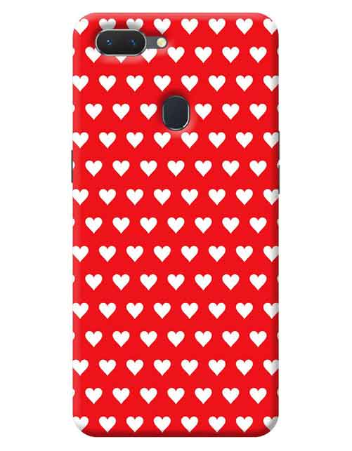 Red Hearts Oppo A5 Mobile Cover