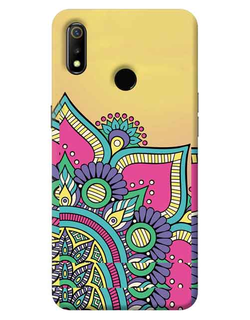 Abstract Realme 3 Mobile Cover