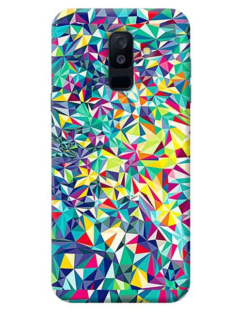 Abstract Samsung Galaxy J8 Mobile Cover