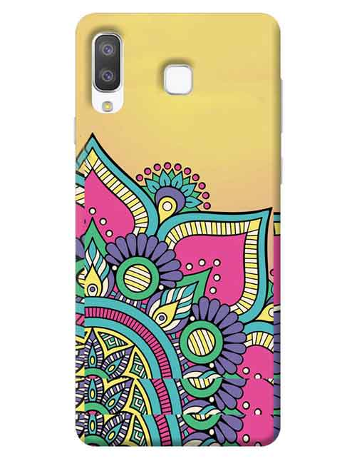 Abstract Samsung Galaxy A8 Star Mobile Cover