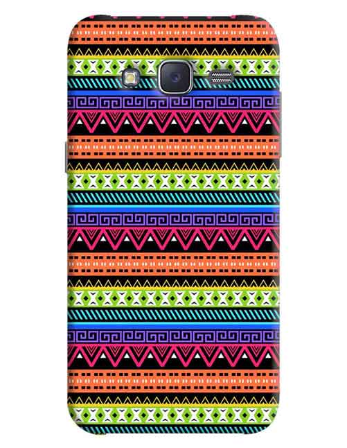 Abstract Samsung Galaxy J7 Mobile Cover