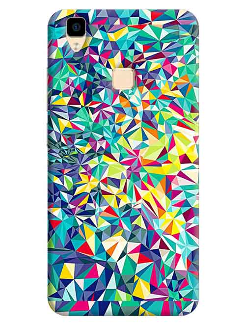Abstract Vivo V3 Mobile Cover