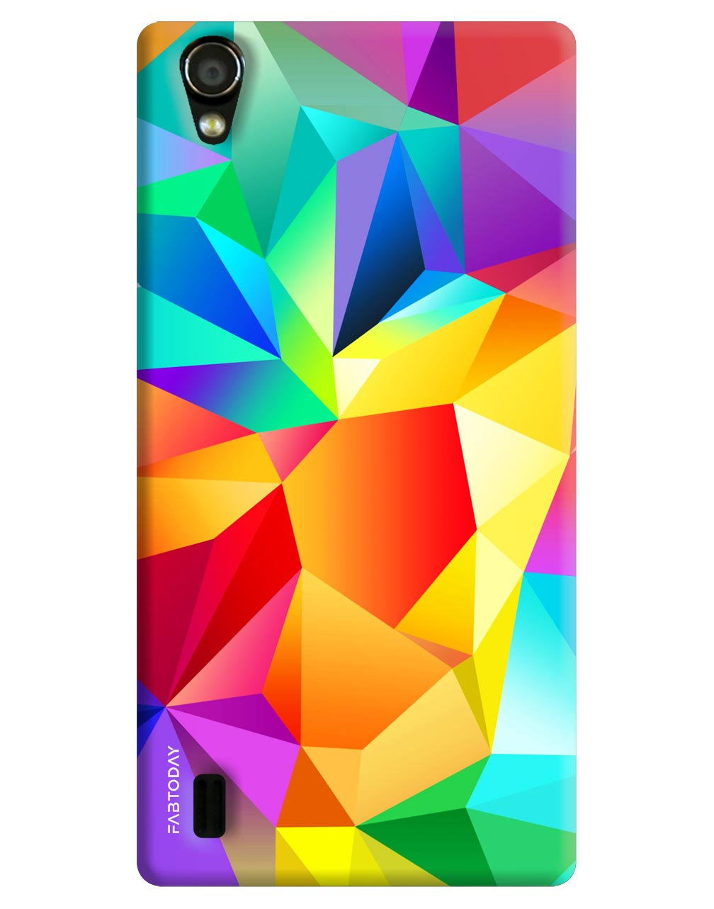 Colorful Abstract Back Cover for Vivo Y15