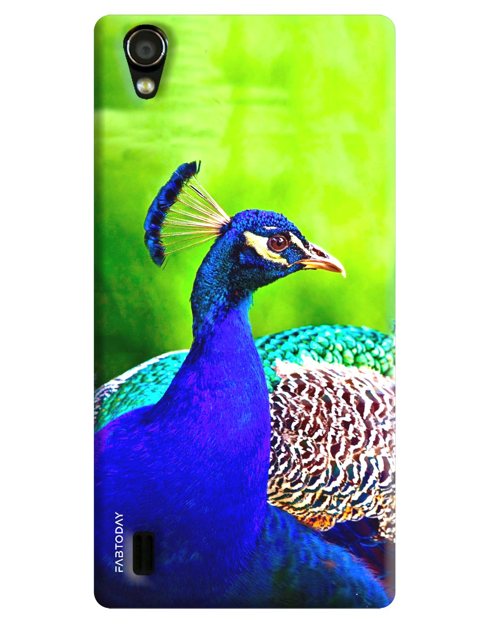 Peacock Back Cover for Vivo Y15