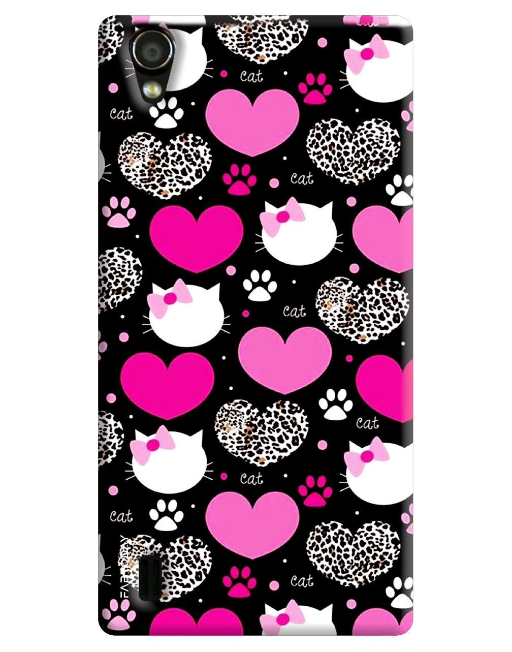 Love with Kitty Back Cover for Vivo Y15