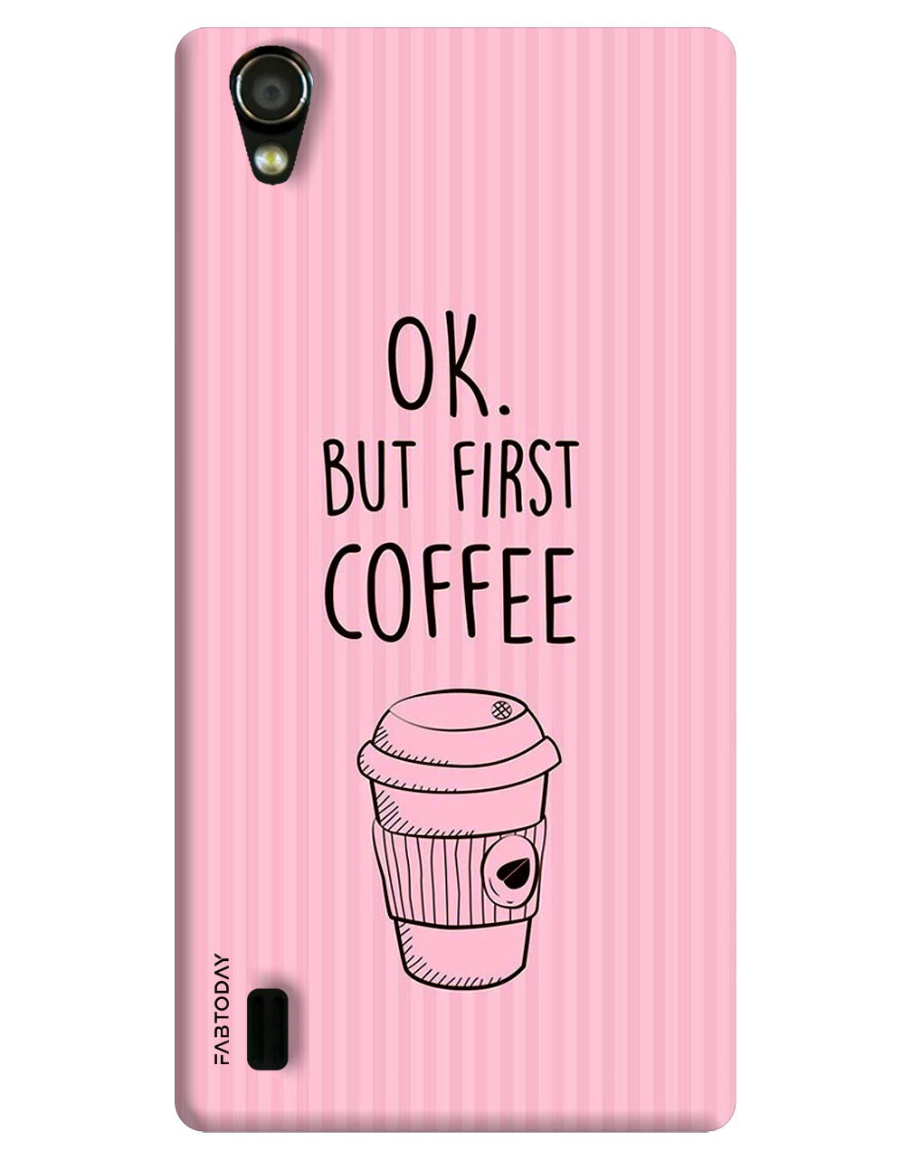 OK! But first Coffee Back Cover for Vivo Y15