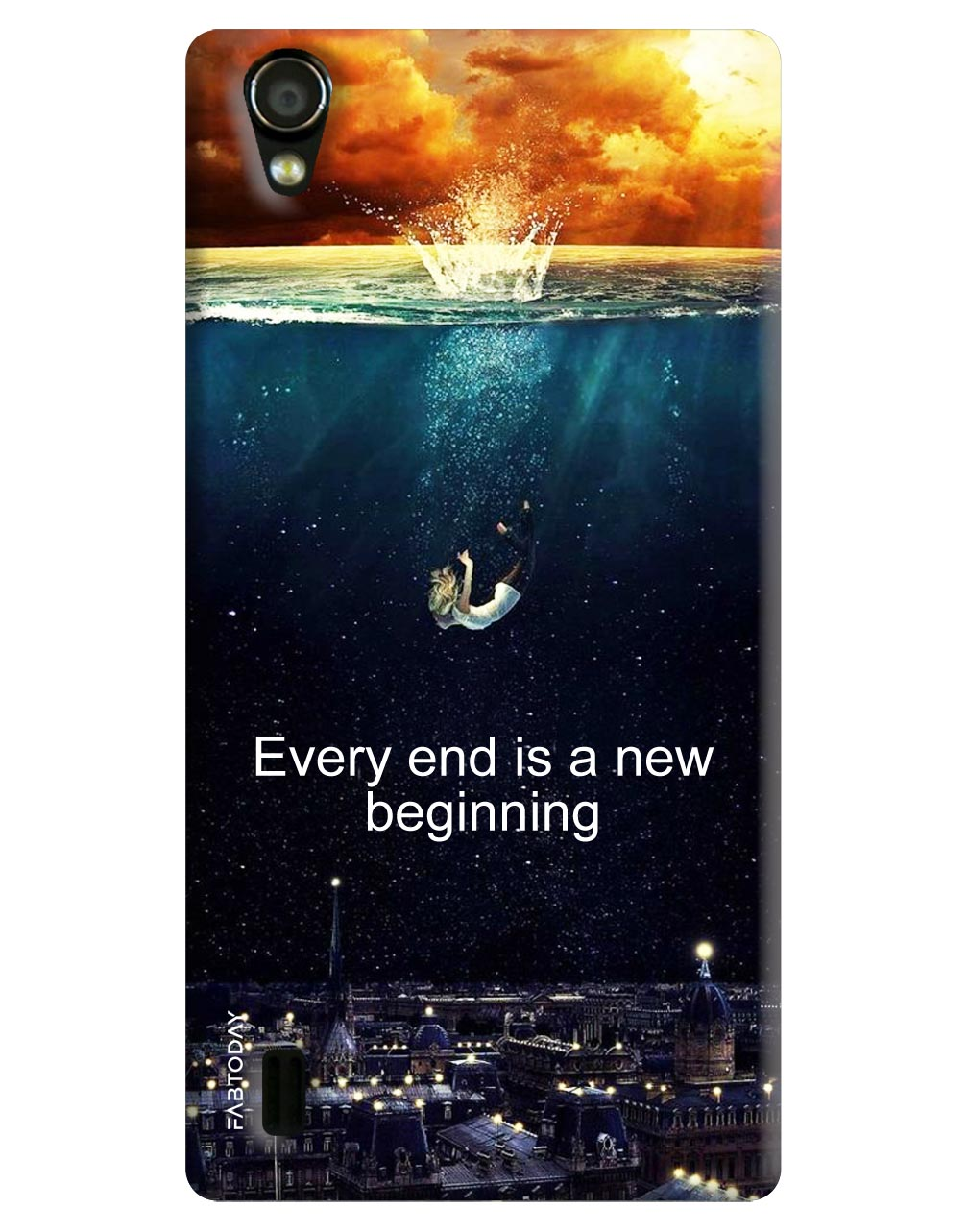 Every End is a new beginning Back Cover for Vivo Y15