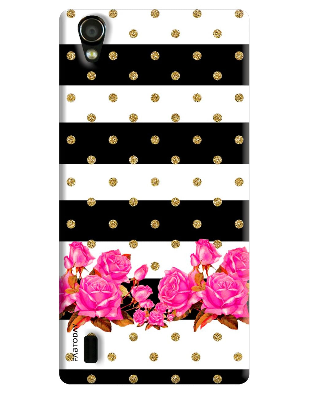 Flowers Back Cover for Vivo Y15