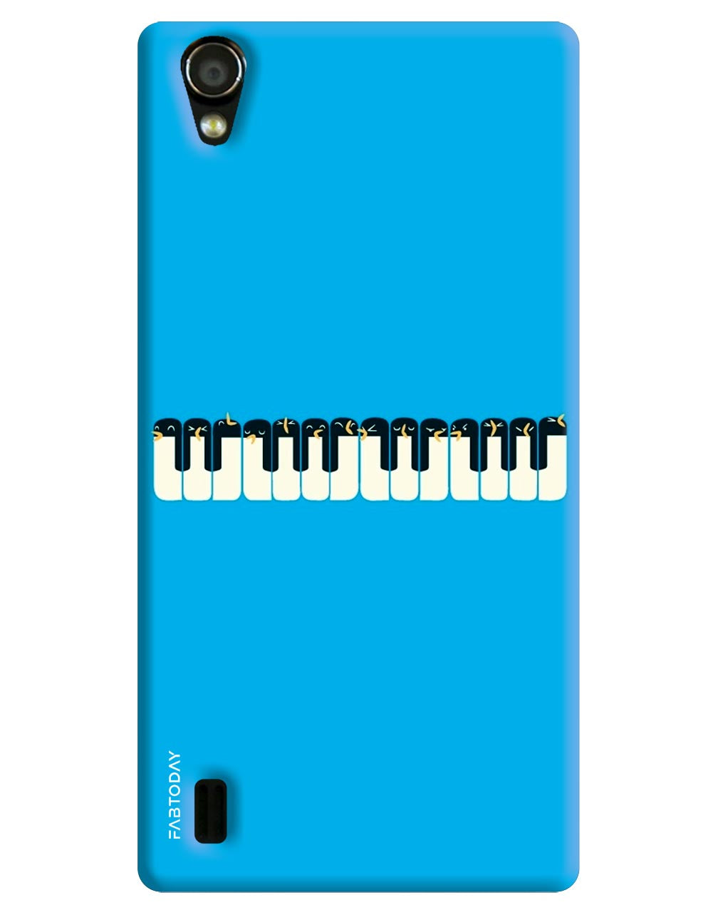 Piano Back Cover for Vivo Y15