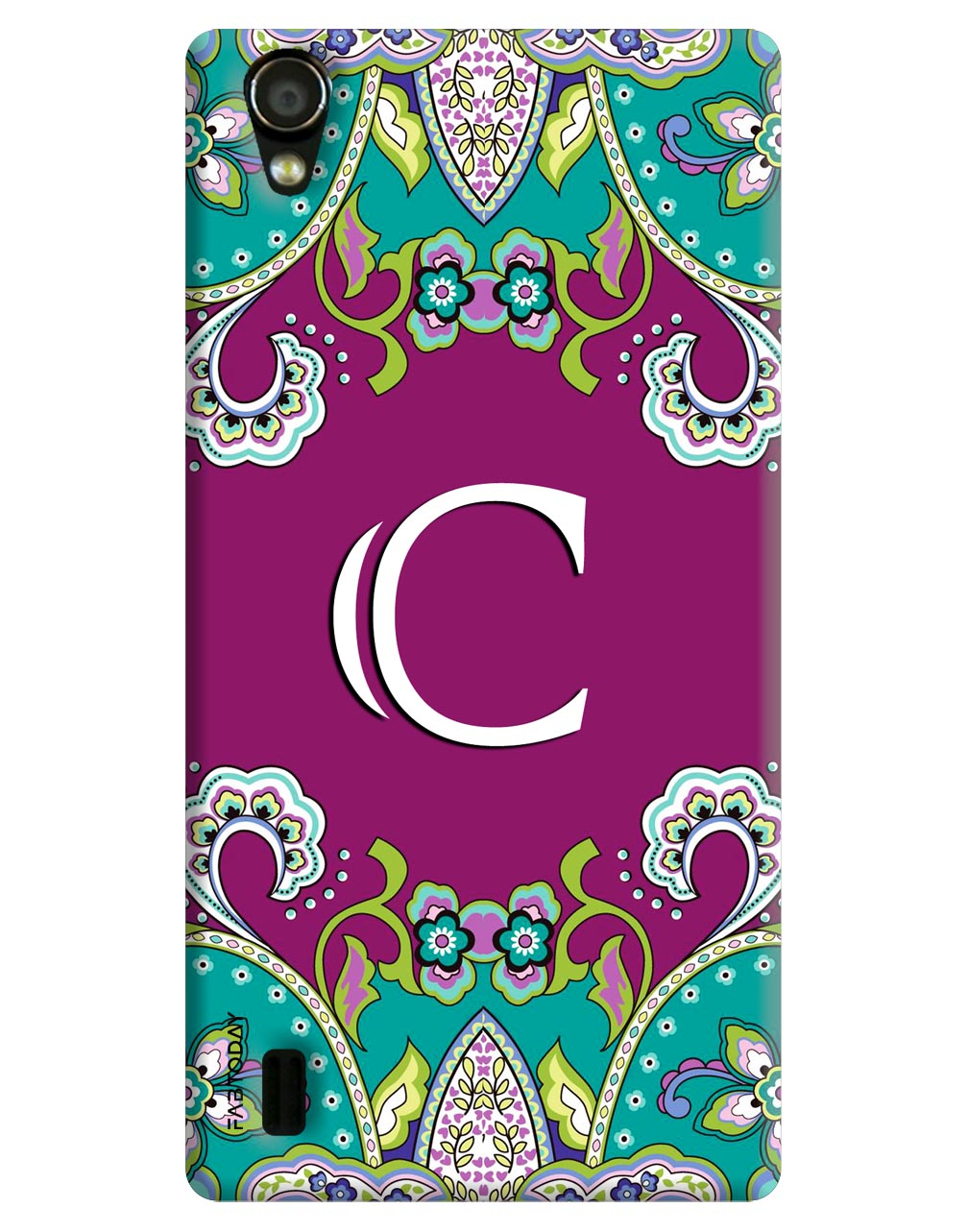 Alphabets - C Back Cover for Vivo Y15