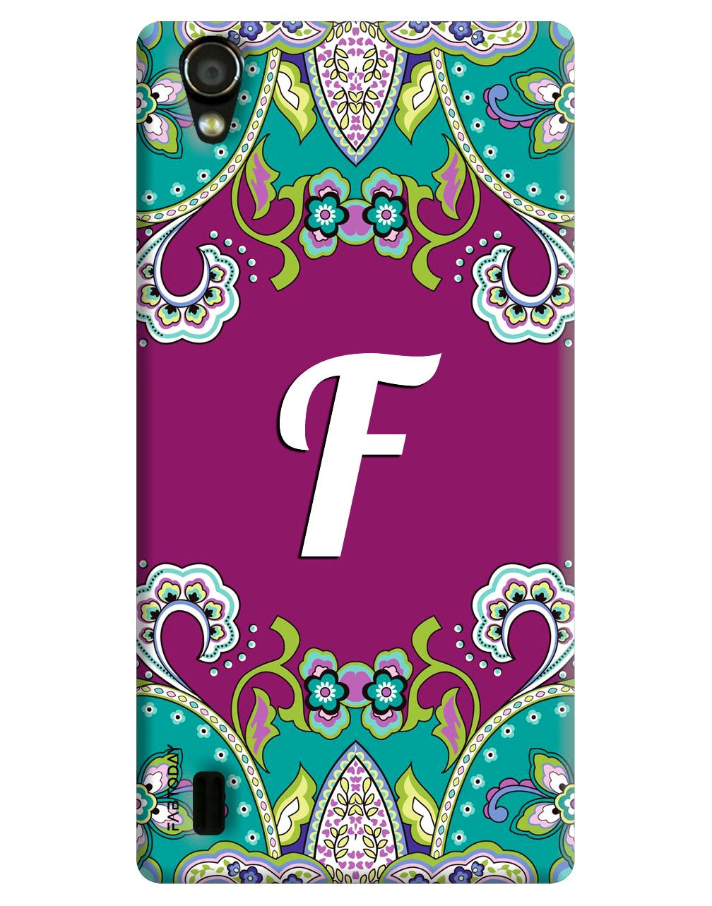 Alphabets - F Back Cover for Vivo Y15