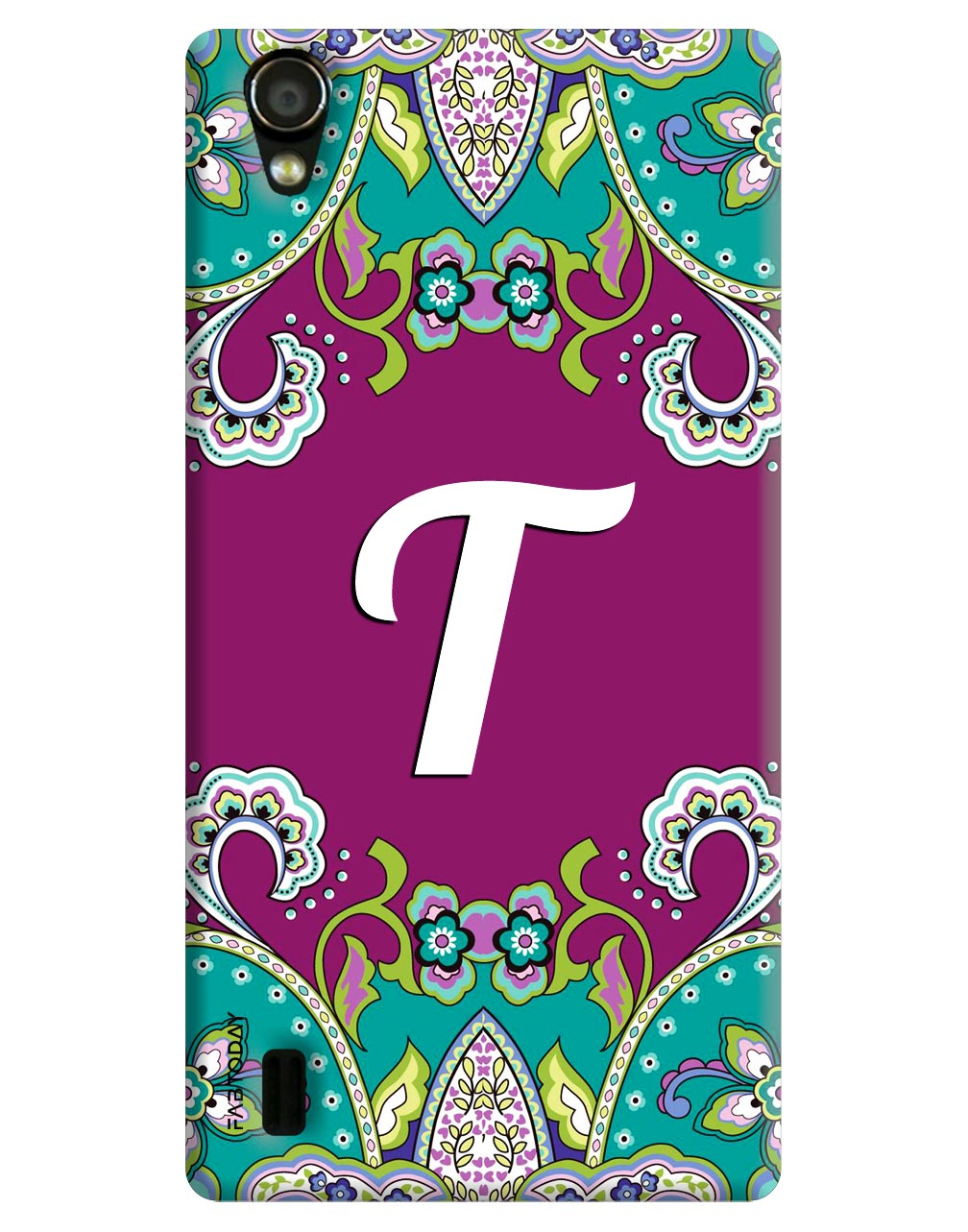 Alphabets - T Back Cover for Vivo Y15