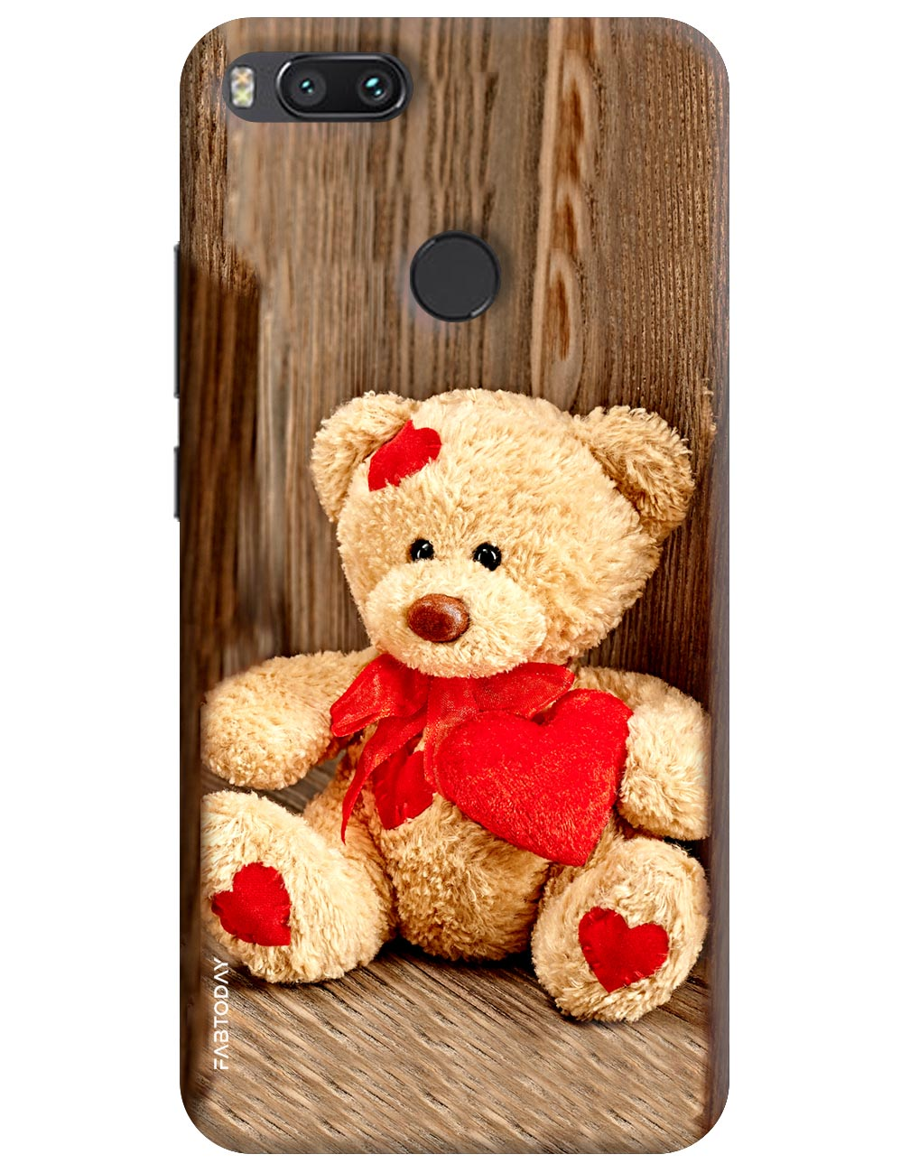 Brown Teddy Back Cover for Xiaomi Mi A1