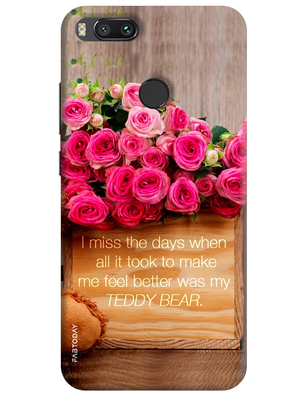 Pink Roses Back Cover for Xiaomi Mi A1