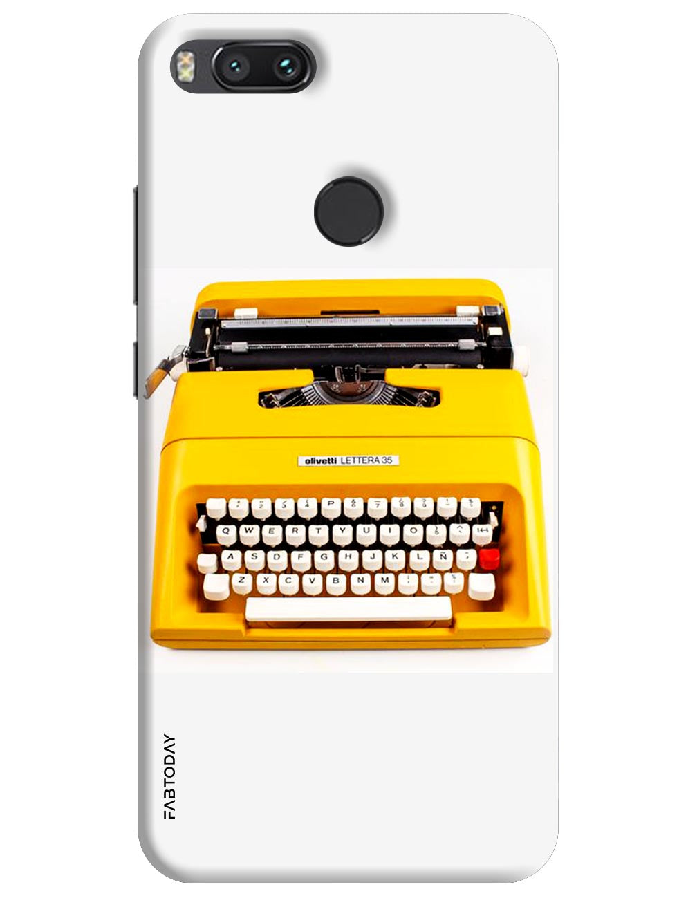 Typewriter Back Cover for Xiaomi Mi A1
