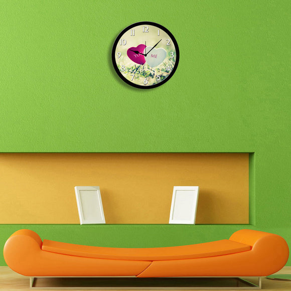 You and Me Love Wall Clock