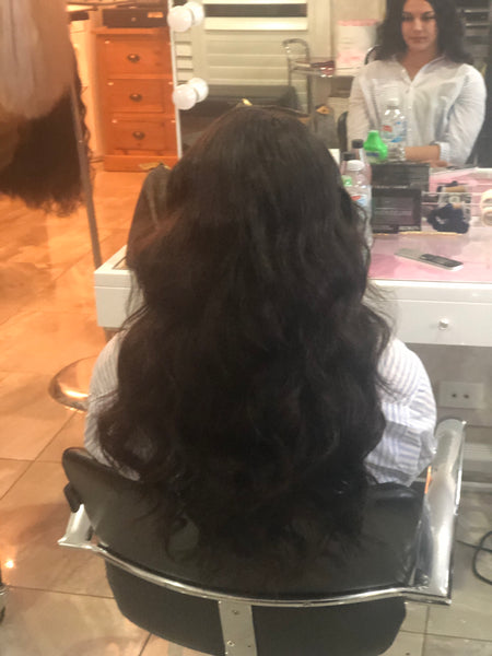 Weave hair extensions installed 20 inch (200grams)