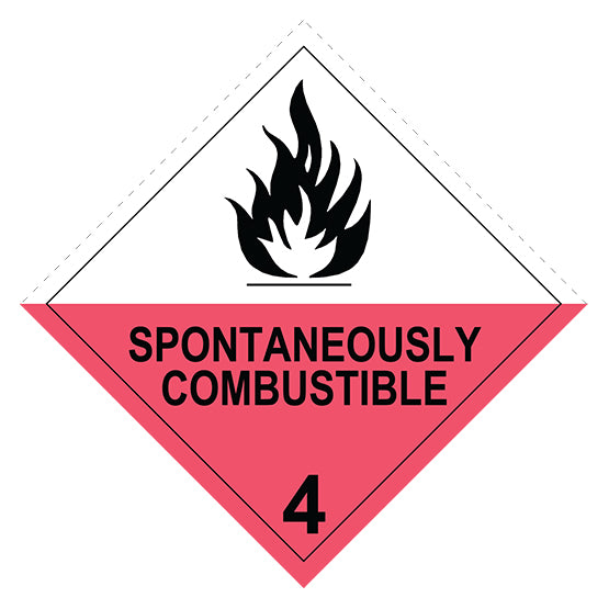 Class 4.2  Spontaneously Combustible -  150 X 150