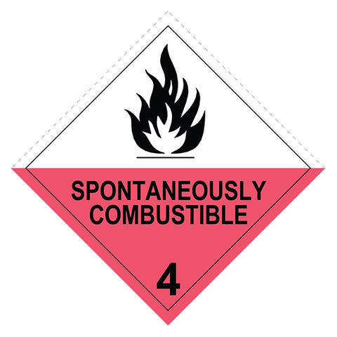 Class 4.2  Spontaneously Combustible -  100 X 100