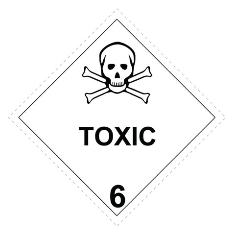 Class 6.1  Toxic Substances -  100 X 100