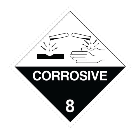 Class 8 Corrosive Substances -  100 X 100