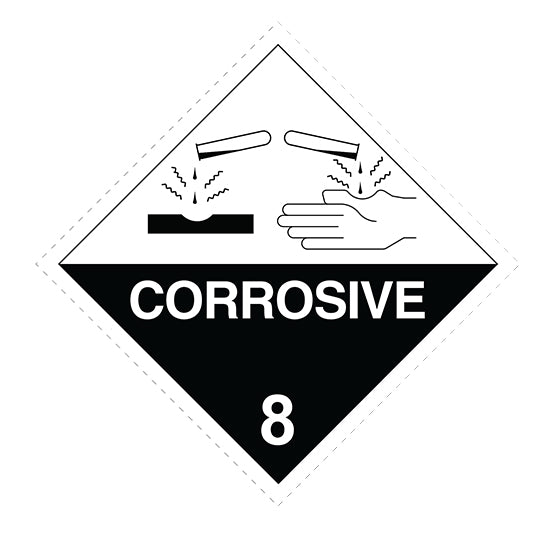 Class 8 Corrosive Substances -  250 X 250