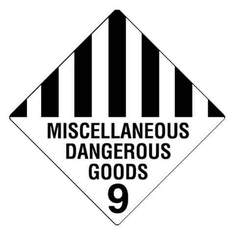 Class 9 Miscellaneous Dangerous Goods -100 X 100