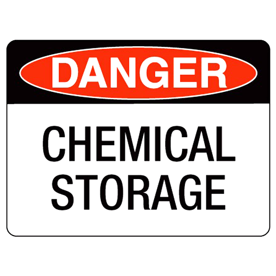 Danger  Chemical Storage - 300 x 180