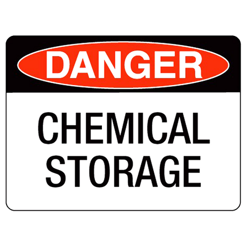 Danger  Chemical Storage - 400 x 250