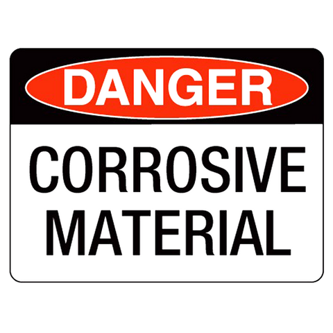 Danger  Corrosive Substances - 400 x 250