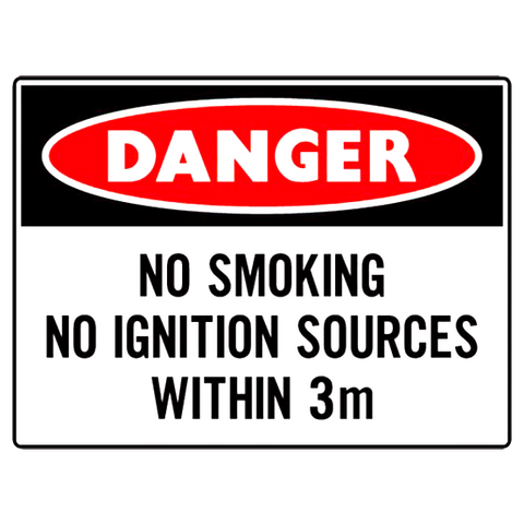 No Smoking No Iginition Source Within 3 Meters - 300 x 400