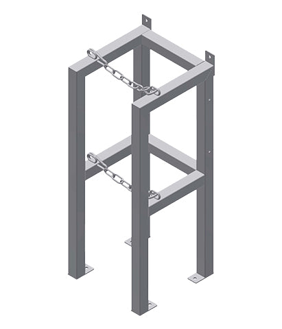Gas Cylinder Rack 1 Deep X 1 Wide