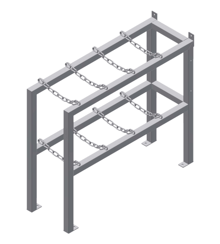 Gas Cylinder Rack 4 Deep X 1 Wide