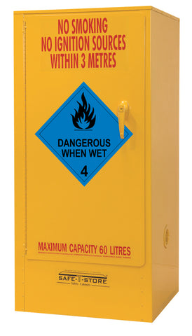 Dangerous When Wet Storage Cabinet - 60L - STOREMASTA