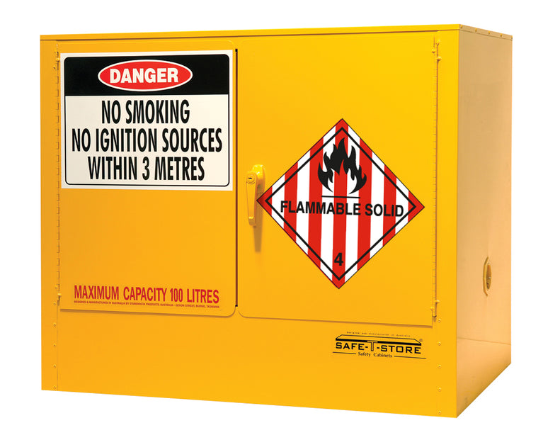 Flammable Solid Storage Cabinet - 100L - STOREMASTA