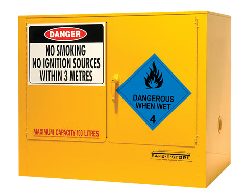 Dangerous When Wet Storage Cabinet - 100L - STOREMASTA