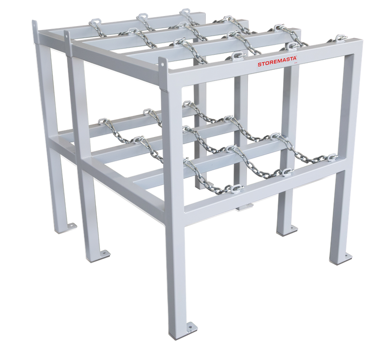 Gas Cylinder Rack 3 Deep X 1 Wide