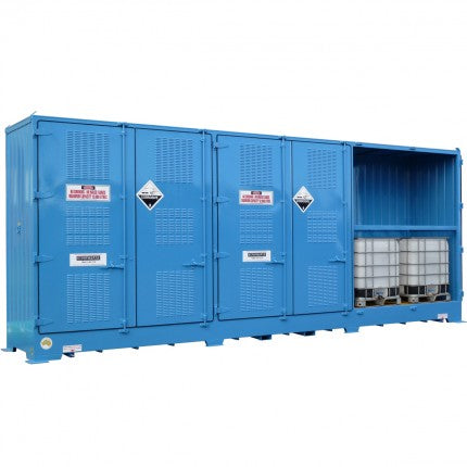Single Depth Flammable Liquids Store - 12 IBC - STOREMASTA