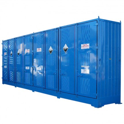 Single Depth Flammable Liquids Store- 16 IBC - STOREMASTA