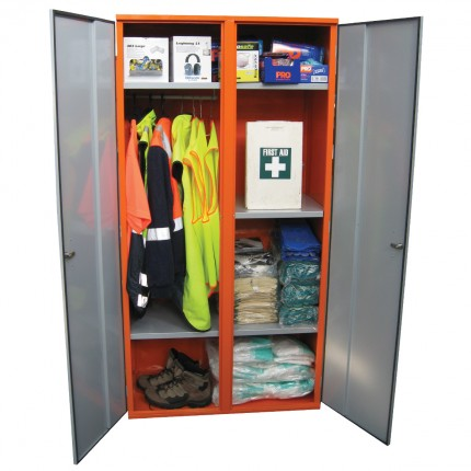 PPE Storage Cabinet - Double Door - Hanging Rail  sc 1 st  STOREMASTA - Dangerous Goods Storage Products & PPE Storage Cabinets u2013 STOREMASTA