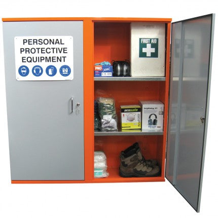 PPE Storage Cabinet - Double Door - 3 Shelves - STOREMASTA