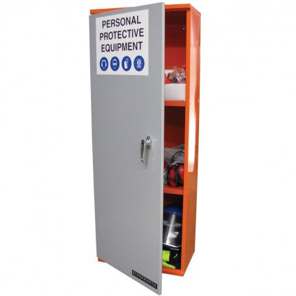 PPE Storage Cabinet - Single door -3 Shelves - STOREMASTA
