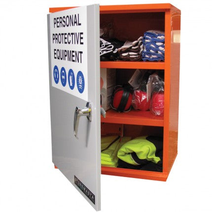 PPE Storage Cabinet - Single Door - 3 Shelves - STOREMASTA